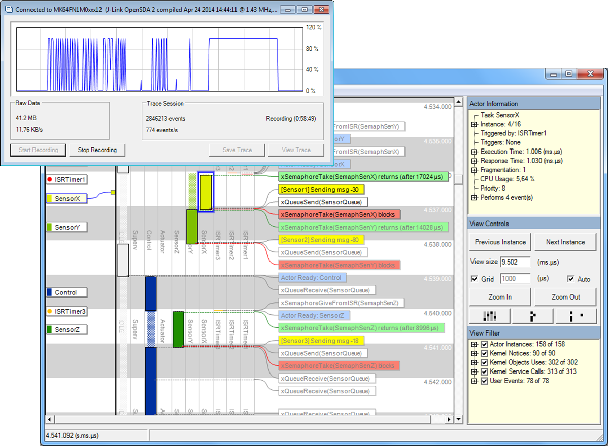 Tracealyzer for FreeRTOS v3.0