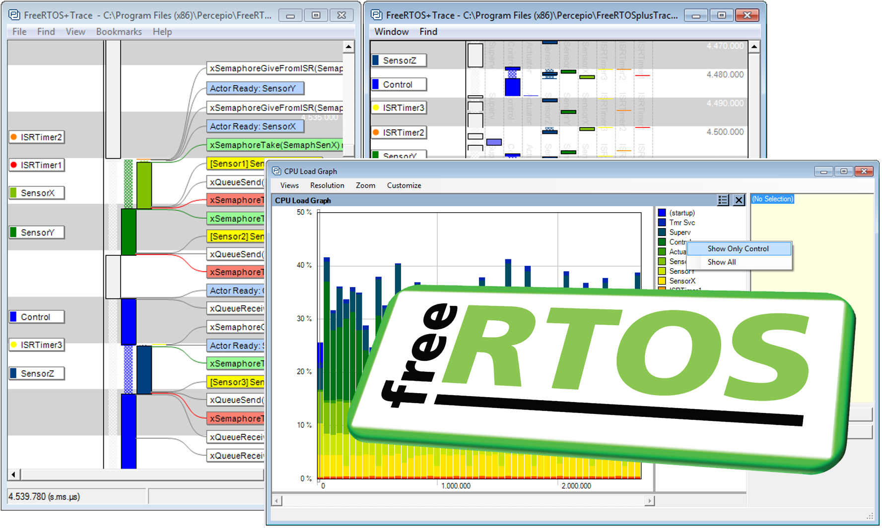 Leading embedded software tracing tool provides immediate support for latest FreeRTOS release