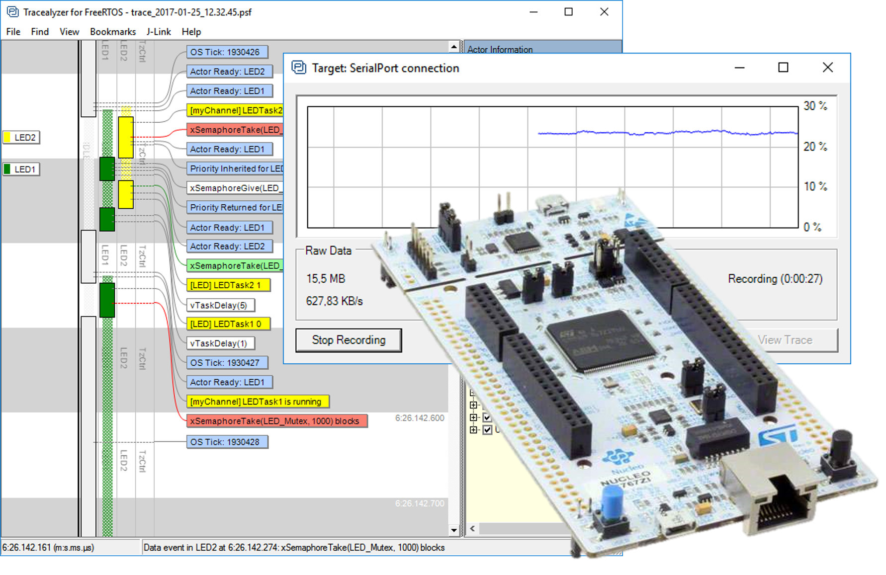RTOS Tracing on STM32 over USB CDC - Percepio AB