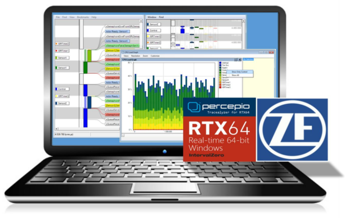 ZF using Tracealyzer for IntervalZero RTX64