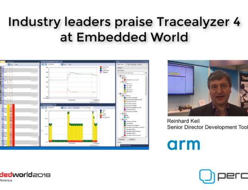 Industry leaders praise Tracealyzer 4 at Embedded World